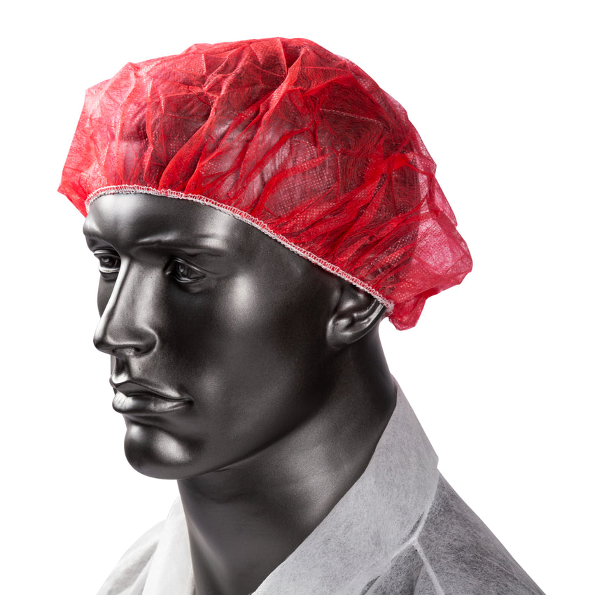 "24"" RED O.R. CAP LATEX FREE, Cap On Mannequin"
