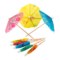 COCKTAIL PARASOLS ASSORTED COLORS
