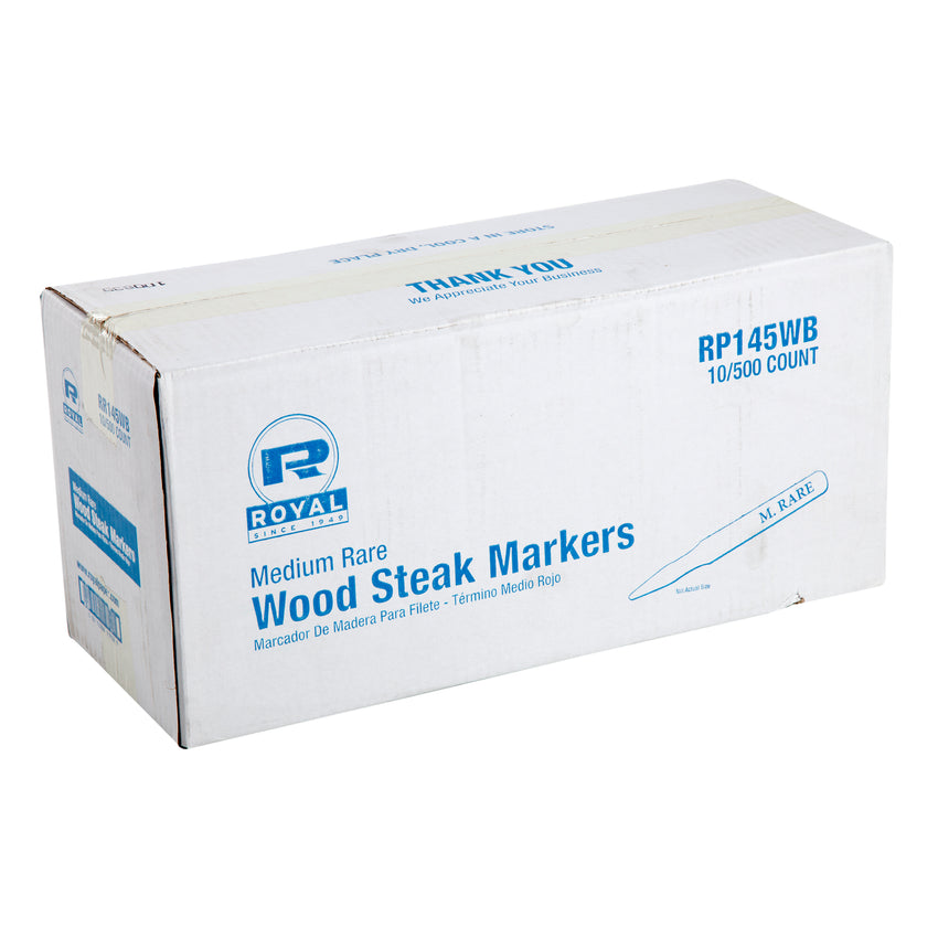 WOOD STEAK MARKER MEDIUM RARE, Closed Case