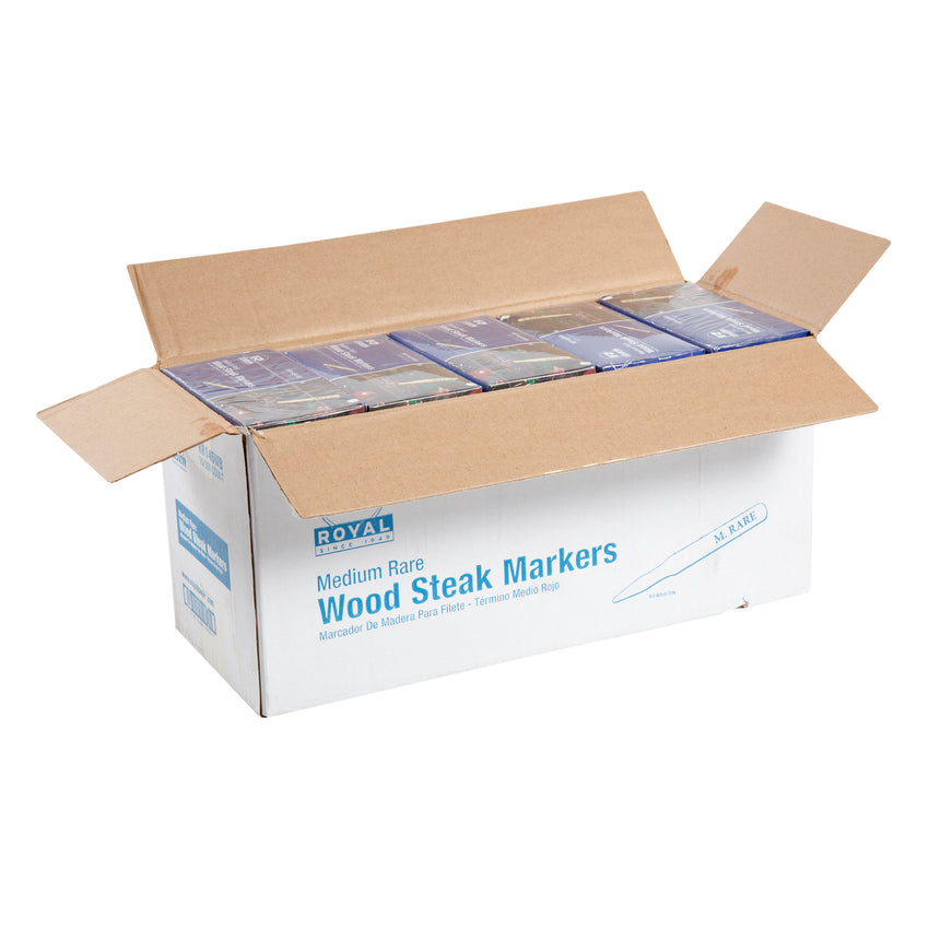 WOOD STEAK MARKER MEDIUM RARE, Opened Case