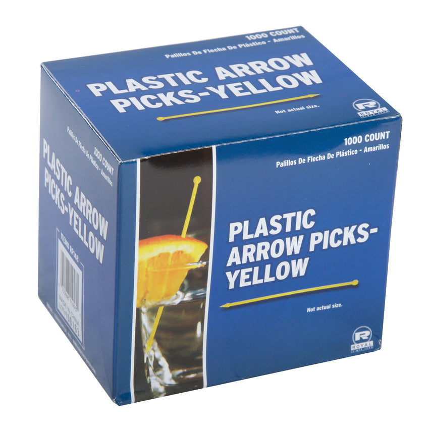 ASSORTED PLASTIC ARROW PICKS, Closed Inner Box Of Yellow Picks