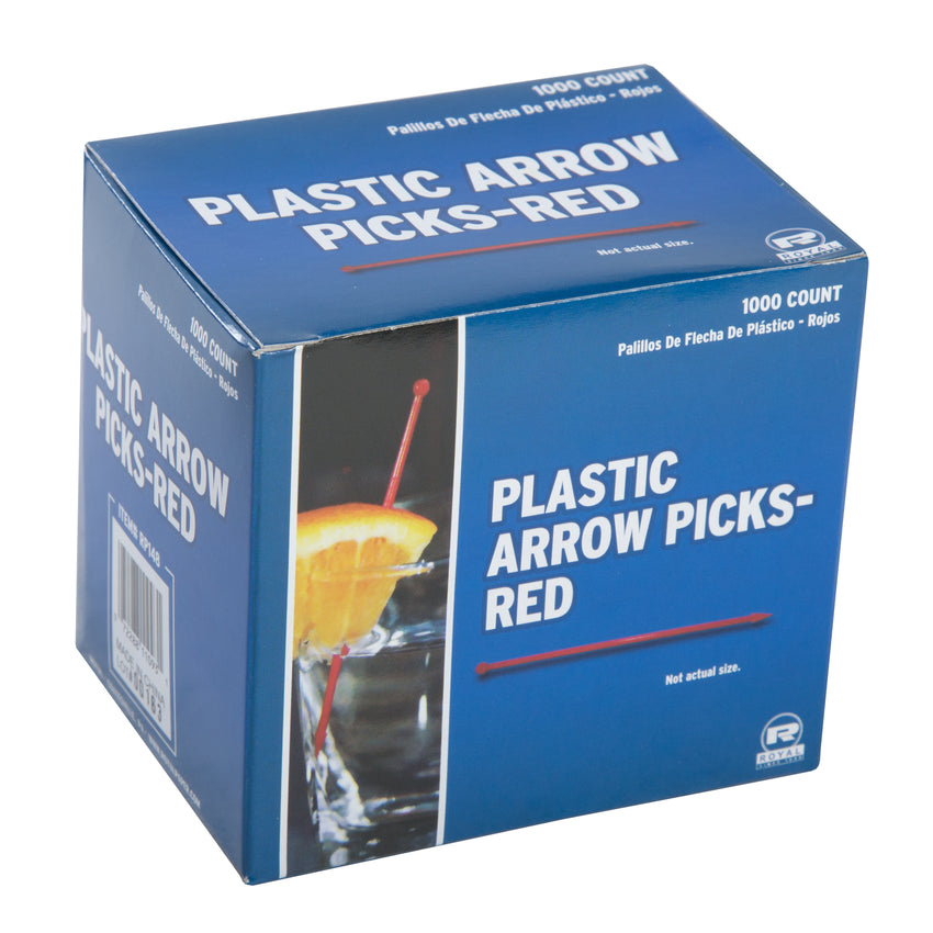 ASSORTED PLASTIC ARROW PICKS, Closed Inner Box Of Red Picks
