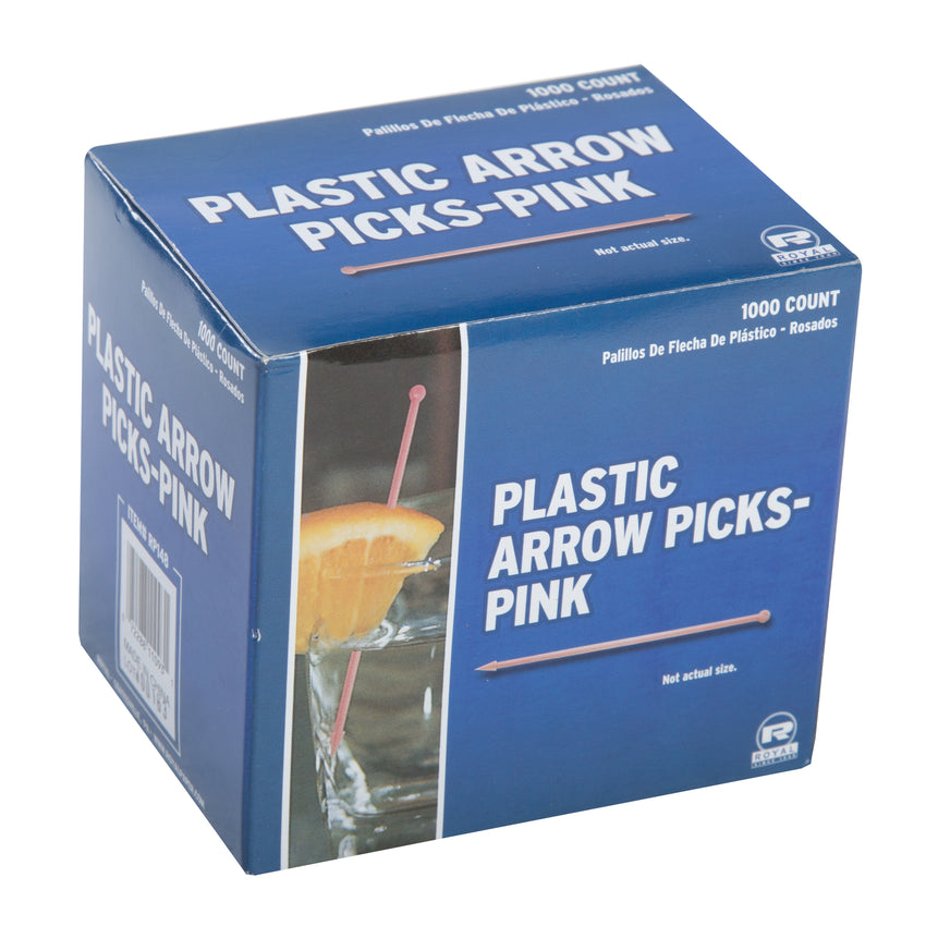 ASSORTED PLASTIC ARROW PICKS, Closed Inner Box Of Pink Picks