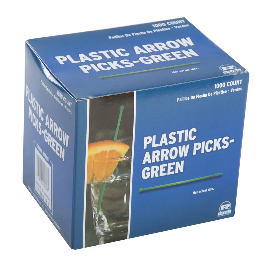 ASSORTED PLASTIC ARROW PICKS, Closed Inner Box Of Green Picks