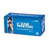 "ROYAL PRISM PICK 6"" CLEAR, Closed Inner Box"
