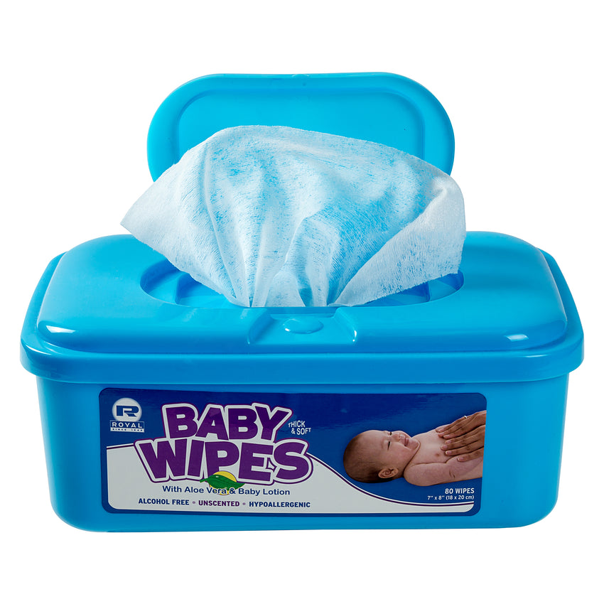 BABY WIPE UNSCENTED, Opened Container Front View