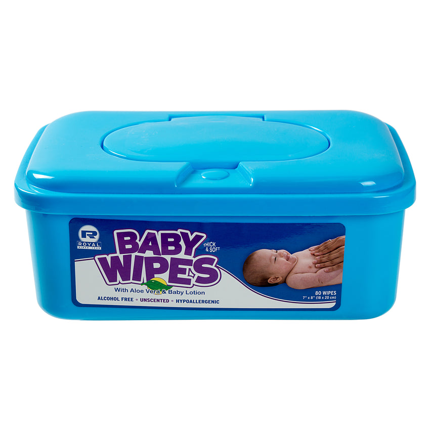 BABY WIPE UNSCENTED, Closed Container Front View