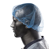 "24"" BLUE KORONET LATEX FREE, On Mannequin Side View"