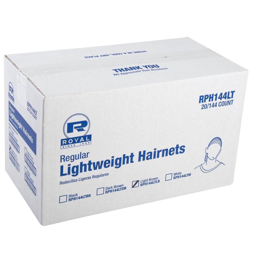 "24"" LIGHT BROWN LIGHT WEIGHT HAIRNET LATEX FREE, Closed Case"