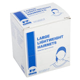 "28"" WHITE LIGHT WEIGHT HAIRNET LATEX FREE, Closed Inner Box"