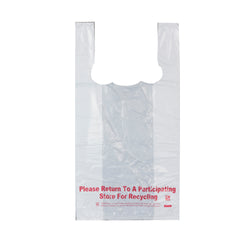 PLAIN WHITE BAG WARNING LABEL 1/10, 8