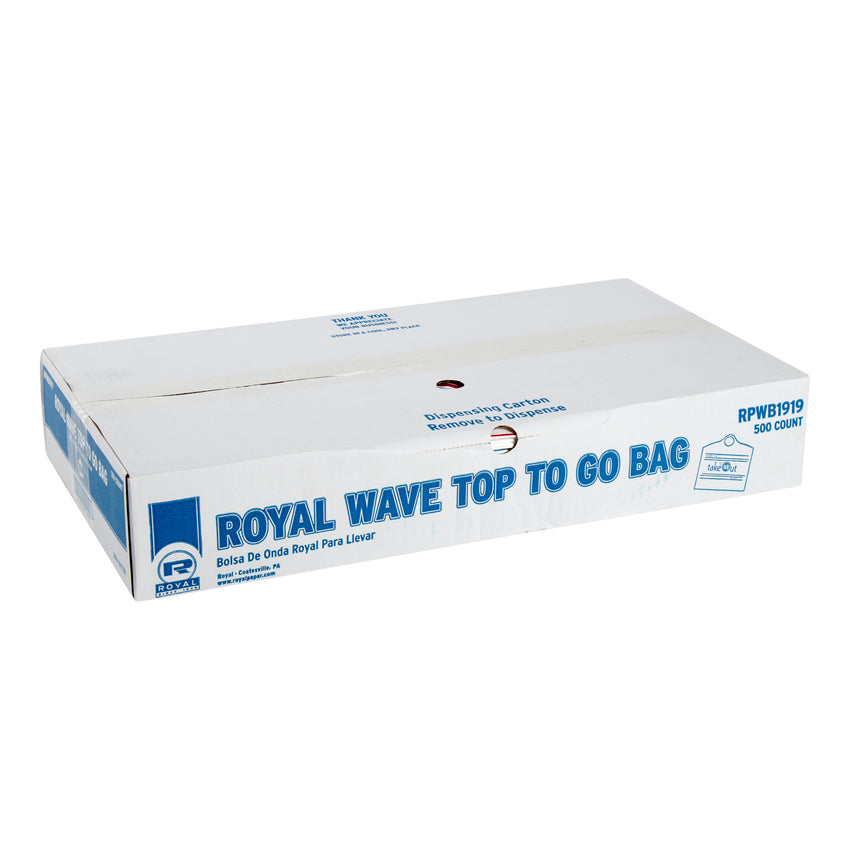 "ROYAL WAVE TOP TO GO BAG 19"" X 19"" X 9.5"" 30 MIC, Closed Case"