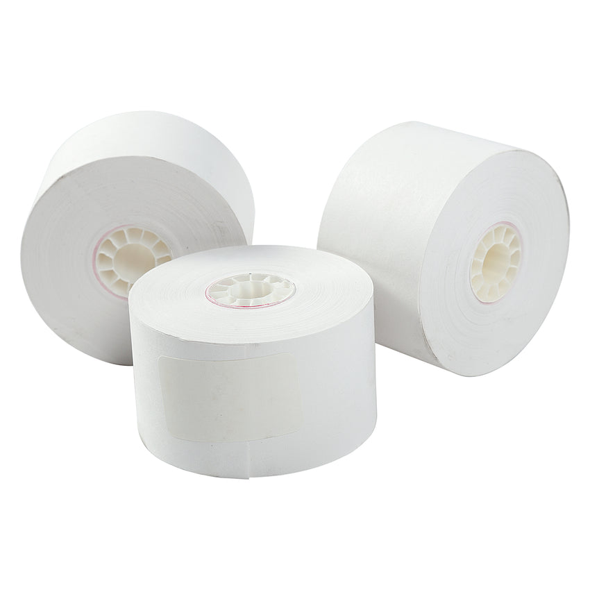 38MM X 130' WHITE BOND 1 PLY REGISTER ROLL, Three Rolls Group View