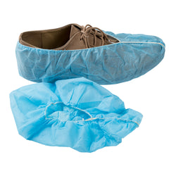 POLYPRO SHOE COVER NON SKID BLUE WITH WHITE TRED LARGE
