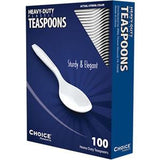 White Polystyrene Teaspoon, Heavy Weight, Inner Package