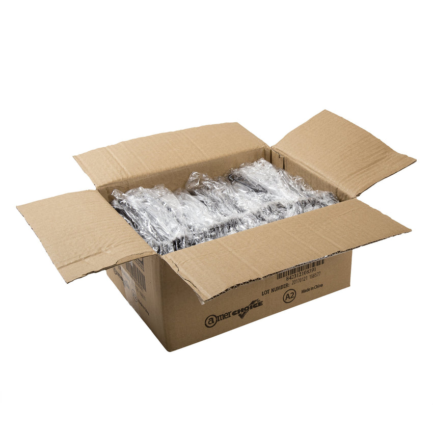 Black Polystyrene Individually Wrapped Serving Spoons Case of 144