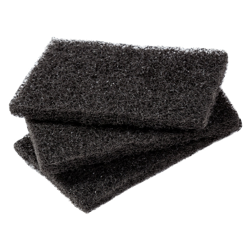 GRILL CLEANING PAD BLACK, Three Pads Stacked