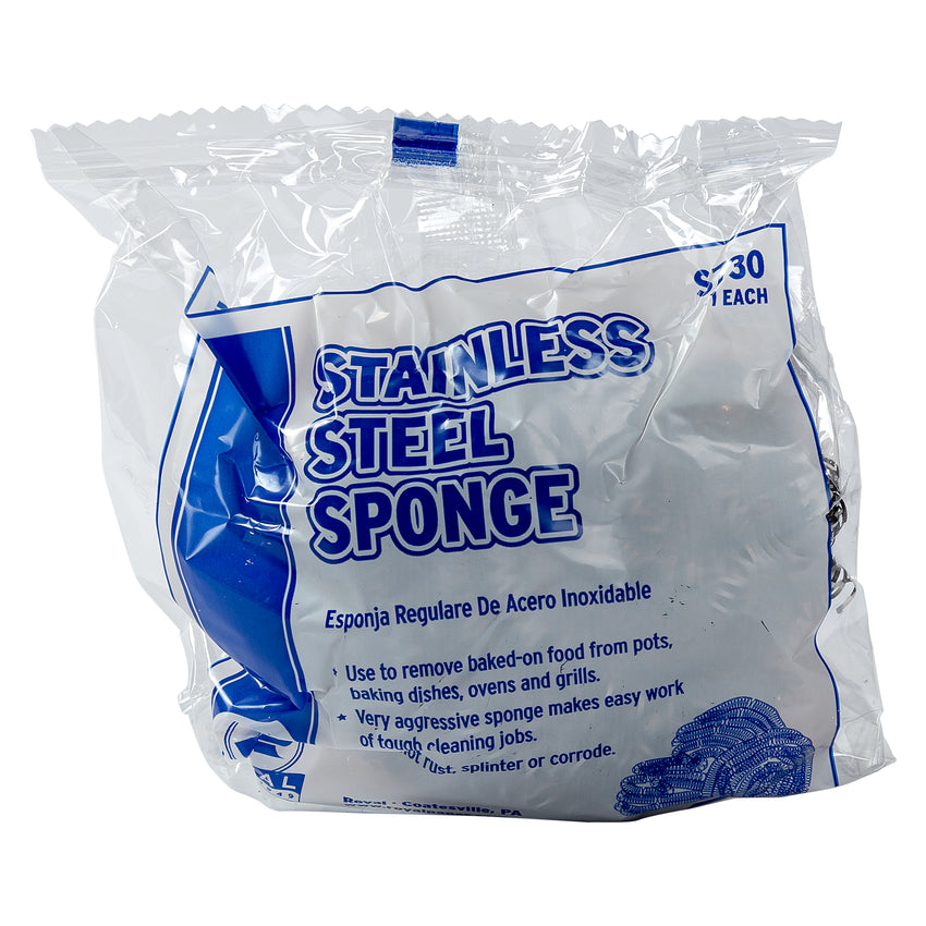 REGULAR STAINLESS STEEL SPONGE BOXED, Plastic Wrapped Individual Package
