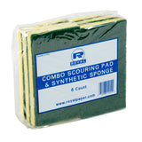 COMBO SCOURING PAD/SPONGE, Plastic Wrapped Inner Package