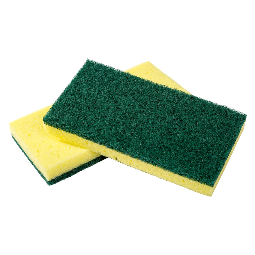 COMBO SCOURING PAD/SPONGE, Two Sponges Stacked