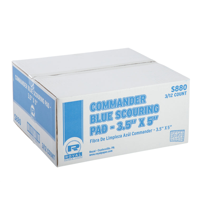 COMMANDER BLUE SCOURING PAD, Closed Case
