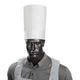 "ROYAL 10"" FLUTED CHEF HAT, Chef Hat On Mannequin View"