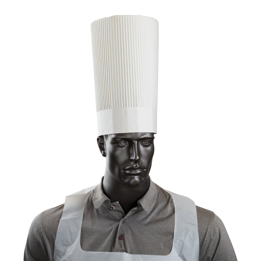 "ROYAL 12"" FLUTED CHEF HAT, Chef Hat On Mannequin View"