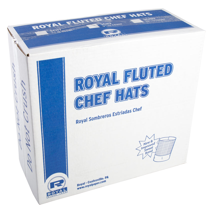 "ROYAL 9"" FLUTED CHEF HAT, Closed Case"
