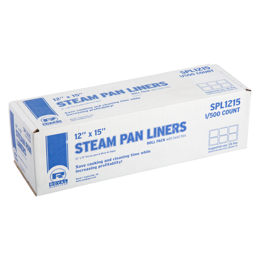 STEAM PAN LINERS 1/6 PAN WITH TWIST TIES, Closed Case