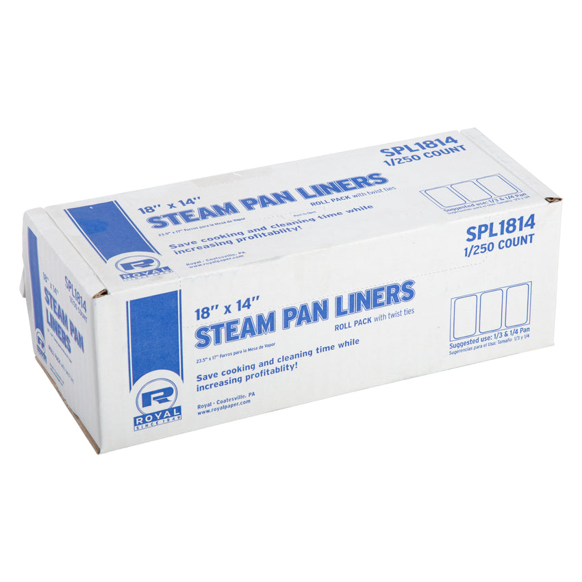 STEAM PAN LINERS 1/4 & 1/3 PAN WITH TWIST TIES, Closed Case