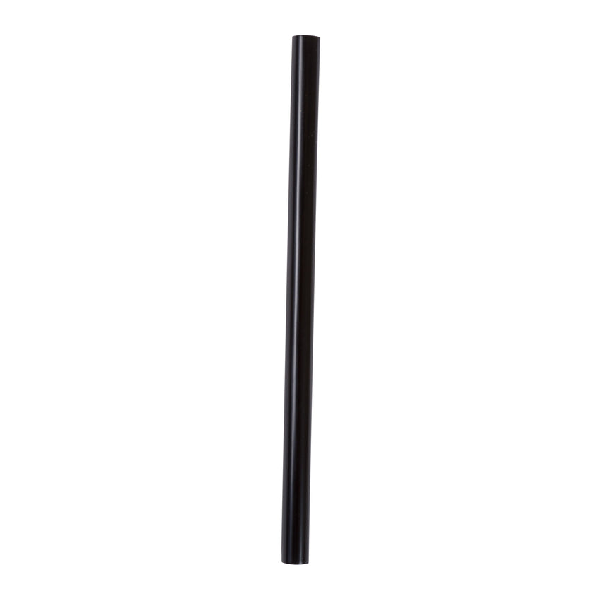 "5.75"" Giant Black Straw, Paper Wrapped, View Of Unwrapped Straw"