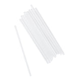"7.75"" Giant Clear Straw, Unwrapped, Group Image"
