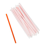 "8.5"" Giant Orange Straws, Paper Wrapped, Group Image"
