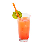 "8.5"" Giant Orange Straws, Paper Wrapped, Straw In Beverage"