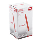 "9"" Giant Red Straws, Unwrapped, Inner Package"