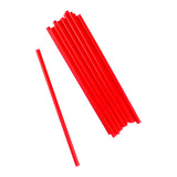 "9"" Giant Red Straws, Unwrapped, Group Image"