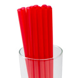 "9"" Giant Red Straws, Unwrapped, Straws In A Glass, Zoomed In"