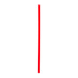 "9"" Giant Red Straws, Poly Wrapped, View Of Unwrapped Straw"