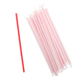 "10.25"" Giant Straw, Red, Paper Wrapped, Group Image"