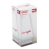 "10.25"" Giant Straw, Clear, Paper Wrapped, Inner Package"