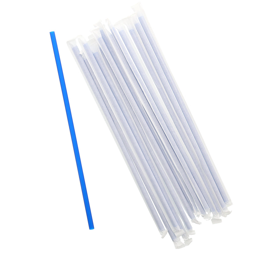 "12"" Giant Blue Straw, Paper Wrapped, Group Image"
