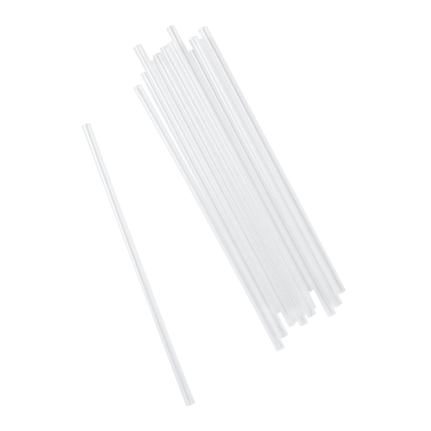 "7.75"" Jumbo Clear Straw, Unwrapped, Group Image"