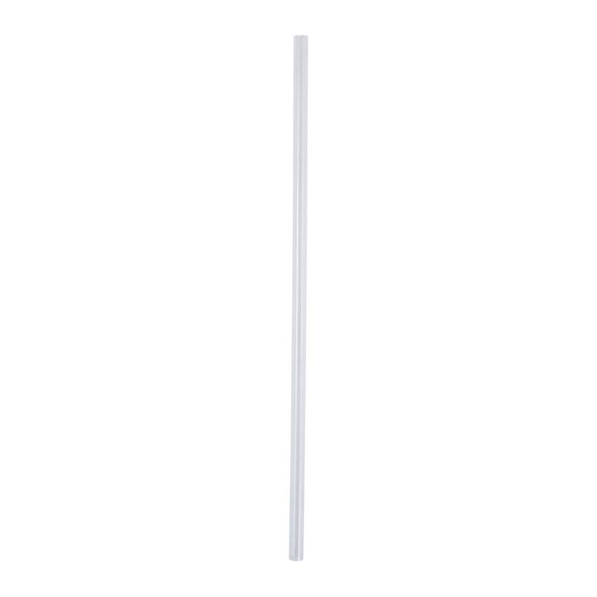 "7.75"" Jumbo Clear Straw, Paper Wrapped, View Of Unwrapped Straw"