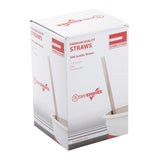 "7.75"" Jumbo Clear Straw, Poly Wrapped, Inner Package"