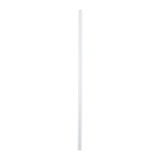 "7.75"" Jumbo Clear Straw, Poly Wrapped, View Of Unwrapped Straw"