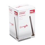 "7.75"" Jumbo Black Straw, Poly Wrapped, Inner Package"