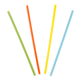 "7.75"" Jumbo Mixed Colors Straws, Poly Wrapped, Group Image, Fanned Out Straws"