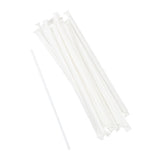 "9"" Jumbo Clear Straws, Paper Wrapped, Group Image"