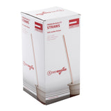 "10.25"" Jumbo Straw, White With Red Stripe, Paper Wrapped, Inner Package"