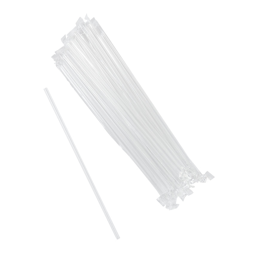 "10.25"" Jumbo Straw, Clear, Poly Wrapped, Group Image"